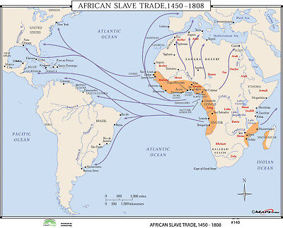 Universal Map World History Wall Maps - African Slave Trade