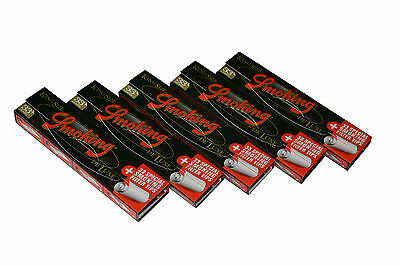 5 x Smoking King Size Deluxe Rolling Papers+33 Special Filter Tips Vegetable Gum