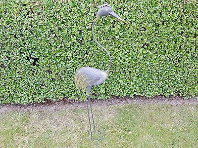 1.1m Tall Heron Garden Ornament Metal Wild Bird Patio Decor Sculpture Figure NEW