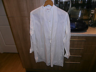 1920 Francis & Co   Collarless Faille Fronted Dress Shirt sz 14.5""