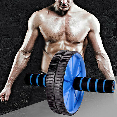 New Dual Wheel AB Roller Workout Wheel Fitness Gym Abdominal Exercise Equipment
