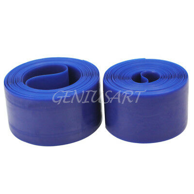 2x Bicycle Bike Road Tyre Liner Inner Tube Protector Anti-Puncture 35mm Blue