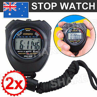 Digital LCD Chronograph Handheld Sports Counter Stopwatch Timer Stop Watch