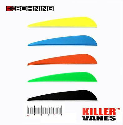 "Bohning Killer Vane 4"" Satin Blue 100pk"