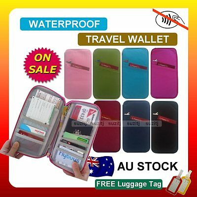 RFID Anti Scan TRAVEL WALLET PASSPORT HOLDER DOCUMENT Bag Credit Card Case New