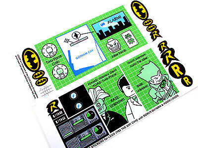 CUSTOM DIE CUT REPLACEMENT STICKERS for Lego 7783 THE BATCAVE + EXTRA'S