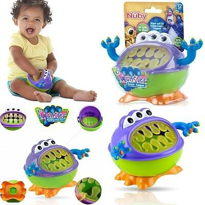 Baby Kid Child Toddler Nuby Monster Snack Keeper No-mess Training Cup Bowl 12m+