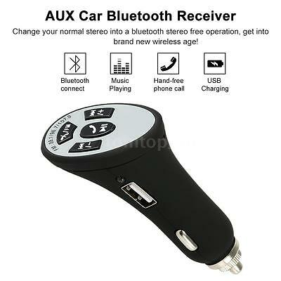 Car Charger FM Transmitter Hands-Free Bluetooth Audio Receiver 3.5mm Stereo X9V4