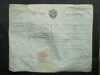 FRANCE / NAPOLEON:  APPOINTMENT BY NAPOLEONS FINANCE MINISTER Sign. MONTESQUIOU