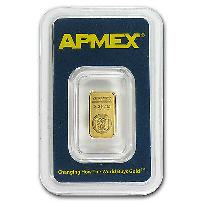 1 gram APMEX Gold Bar - Tamper Evident Packaging - SKU #63288