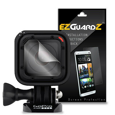 4X EZguardz Screen Protector Skin HD 4X For GoPro Hero 4 Session Lens (Clear)