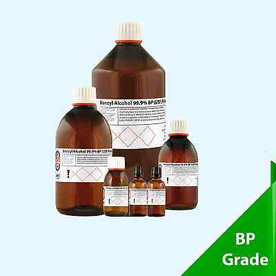 Benzyl Alcohol 99.5% Food Grade - Choose your pack 30ml - 25 Litre