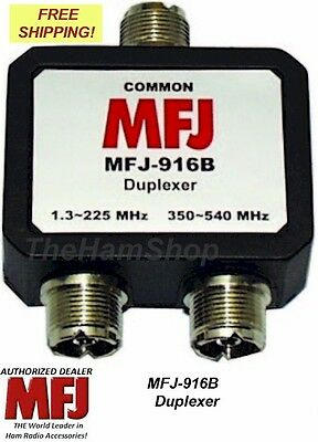 Mfj 916B 1.8-225, 350-540 Mhz Duplexer, All So-239 Connections -New