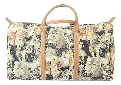 Cat Carry Overnight  Bag Signare Tapestry Cats & Kittens Design