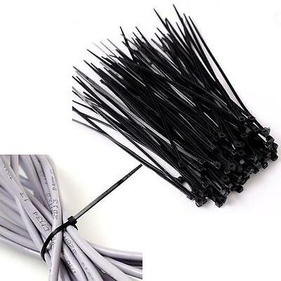 100/200/300pcs Self-Locking Network Nylon Cable Ties Wire Zip Cord Strap Ties