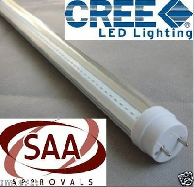 10x CREE T8 LED TUBE 120cm 18w COOL WHITE FROSTED FLUORESCENT BULB SAA LIGHTING