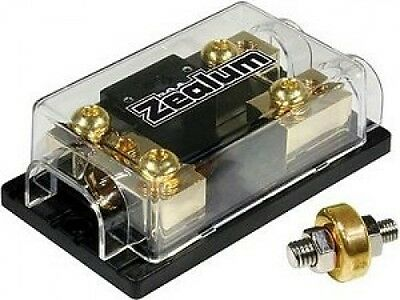 ZEALUM ZFB-75M - Sicherungshalter / Fuseblock 75mm with Ground-Clamps