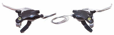 Pair of SHIMANO Bike/Bicycle BRAKE/GEAR SHIFTERS 21 speed V-BRAKE LEVER ST-EF29