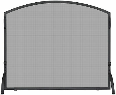 Uniflame Corporation Single Panel Wrought Iron Arch Top Fireplace Screen
