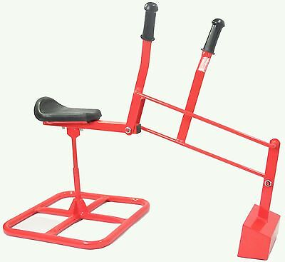 Tough Kid Sandbox Backhoe Digger (RED) Heavy Duty working ride-on toy crane