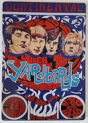 The Yardbirds Concert Poster Tour Rock Music Metal Sign