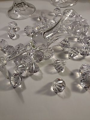 Acrylic Diamond Beveled Wedding Confetti, 12 PCS Vase Filler 1x 7/8""