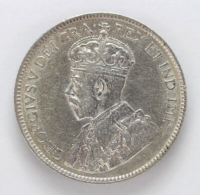 1918 Canada Silver 25 Cent George V - VF #01281881g