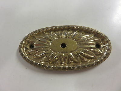 Vintage Brass Heavy Drawer Pull Back Plate Only Part