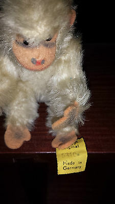 Early Off White Steiff Monkey - Jointed #5310.  Button & Tag..... Smoke Free