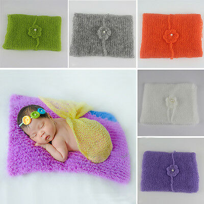 Newborn Baby Boy Girl Soft Mohair Wraps Cocoon Photography Photo Prop Crochet