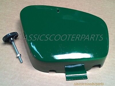 Honda C50 C70 C 50 70 pre 1979 battery side GREEN cover panel with knob H2269