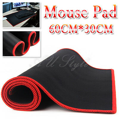 Extra Gaming Mouse Pad Large Black Mat For CF CS WOW PC Laptop Computer 60*30cm