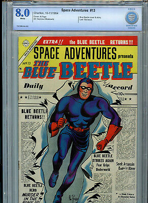 Space Adventures #13 Golden Age Charton Group CBCS Graded 8.0 1954