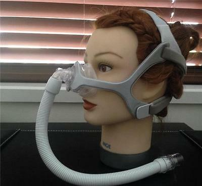 CPAP Sleep Apnoea Philips Respironics WISP nasal mask  Clear /  Fabric frame new