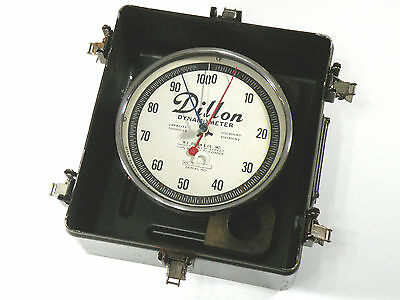 Dillon Dynamometer 100,000 lb Capacity 500 lb Divisions w/ U.S. Military Case
