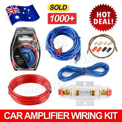 1500w Audio Subwoofer Sub AMP RCA Car Amplifier Wiring Kit Power Cable AGU FUSE