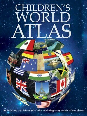 Children's World Atlas (Encyclopedia 128) by Igloo Books Ltd Hardback Book The