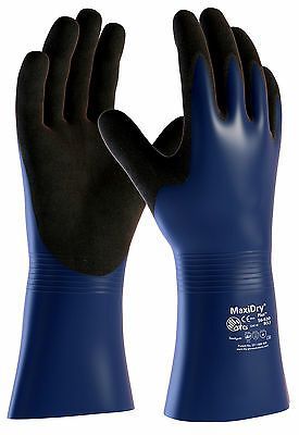 ATG MaxiDry Plus 56-530 Waterproof Gauntlets Chemical, Oil Resistant Work Gloves