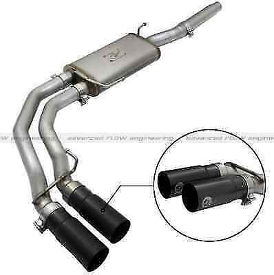 "Afe 49-43079-B Rebel Series Cat-Back 3"" Exhaust Sys w/Black Tips for 04-08 F150"
