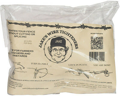 "1/4"" diameter (20 ct) Jake's Wire Tighteners"