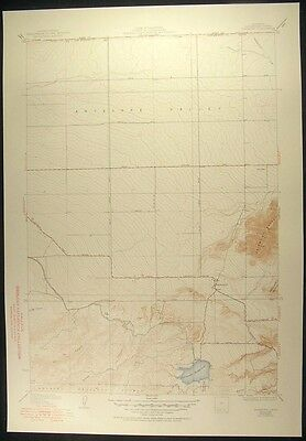Fairmont California Los Angeles County 1951 vintage USGS original Topo chart map