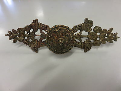 Antique Brass Very Ornate Large Drawer Pull