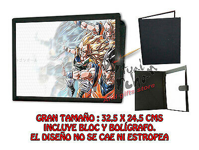 CARPETA ONDA VITAL DRAGON BALL LONETA NEGRA FOLDER bloc es