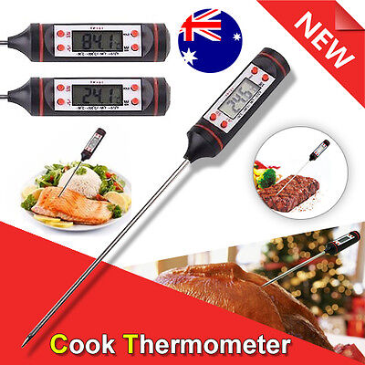 Meat Candy Jam Cooking Digital Food Thermometer Probe Kitchen BBQ Deep Fry