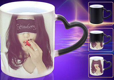 custom personalized color changing magic coffee cup mug picture photo printed
