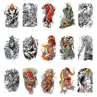 Large Sexy Tattoo Temporary Skull Body Arm Stickers Removable Waterproof Sticker