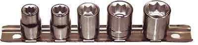 "T&E Tools 93205 5 Piece 3/8 Drive 8Point Sockets 1/4"" to 1/2"""
