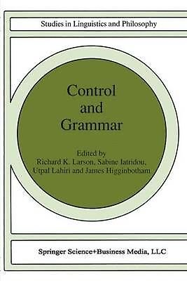 Control and Grammar (English) Paperback Book