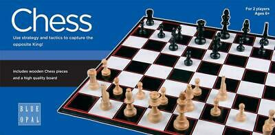 Chess Game - Blue Opal Free Shipping!