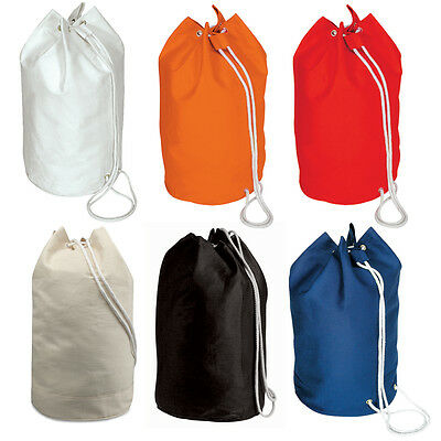 Sailor Drawstring Duffel / Duffle / Yachter Bag 100% Cotton Shoulder Rucksack